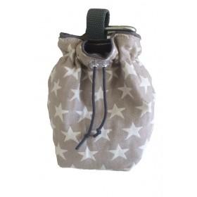 Leckerli-Beutel Stars beige von Hundeliebe
